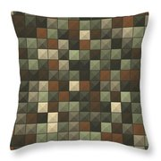 Dust Abstract Triangle Shape Pattern Throw Pillow