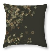 Dust Digital Branch Pattern Throw Pillow