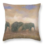 Dust Riders Throw Pillow