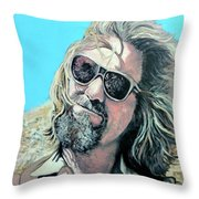 Dusted By Donny Throw Pillow by Tom Roderick