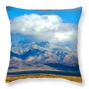 Dusting Of Snow, Dos Cabezas Throw Pillow