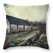 Dusty Morning Throw Pillow