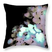 Dusty Rose Pink Aqua 2 Throw Pillow