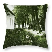 Dutch Canal - Digital Throw Pillow