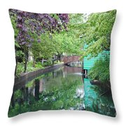 Dutch Canal Throw Pillow