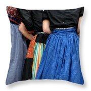 Dutch Dancers In A Huddle Throw Pillow