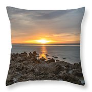 Dutch December Beach 002 Throw Pillow