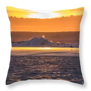 Dutch December Beach 003 Throw Pillow