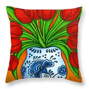 Dutch Delight Throw Pillow