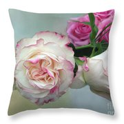 Dutch Frilled Roses Throw Pillow