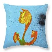 Dutch Pride Yellow And Orange Throw Pillow