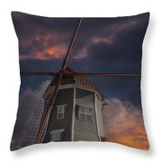Dutch Windmill In Lynden Washington State At Sunset Throw Pillow