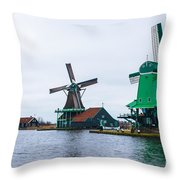 Dutch Windmills 1 Throw Pillow