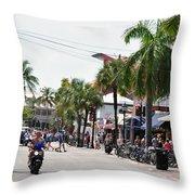Duval St. Throw Pillow