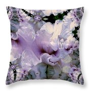 Duvet Iris Fractal Throw Pillow