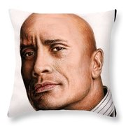Dwayne Johnson Color Throw Pillow