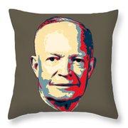 Dwight D. Eisenhower Pop Art Throw Pillow