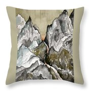 Dwimorberg     The Haunted Mountain  Throw Pillow