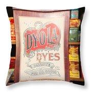 Dy-o-la Dyes Throw Pillow