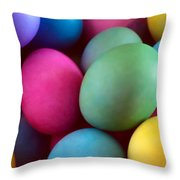 Dyed Easter Egg Abstract Throw Pillow