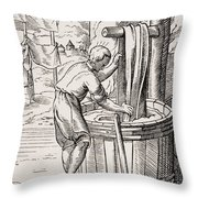 Dyer. 19th Century Reproduction Of 16th Throw Pillow