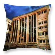 Dying Building Throw Pillow