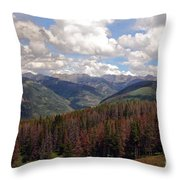 Dying Evergreens Throw Pillow
