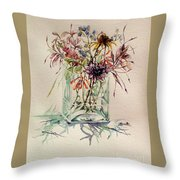 Dying Meadow Throw Pillow