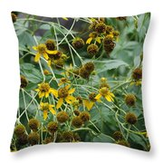 Dying Sun Flowers Throw Pillow
