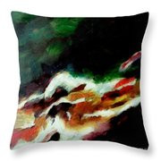 Dying Swan-abstract Throw Pillow