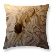 Dying Swan Throw Pillow