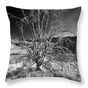 Dying Tree Throw Pillow