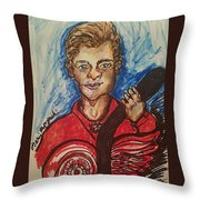 Dylan Larkin Throw Pillow