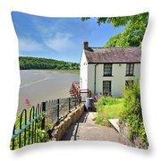 Dylan Thomas Boathouse 4 Throw Pillow