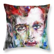 Dylan Thomas - Watercolor Portrait.5 Throw Pillow