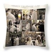 Dylan's Christening Day V3 Throw Pillow