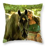 Dylly And Lizzy Throw Pillow