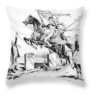 Dynamic America, 1889 Throw Pillow