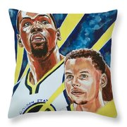 Dynamic Duo - Durant And Curry Throw Pillow
