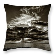 Dynamic Sunset - Sepia Throw Pillow