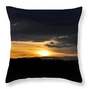 Dynamic Sunset Over Field Throw Pillow