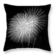 Bang Bang Black And White  Throw Pillow
