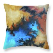 Dynasty Expressionist Painting Throw Pillow