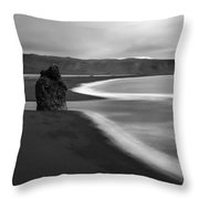 Dyrholaey Pinnacle Overview, Iceland, 1752 Throw Pillow