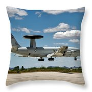 E-3 Sentry A W A C S Throw Pillow