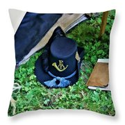 E Company Black Hat Throw Pillow