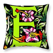 E In Green Throw Pillow