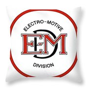E M D Throw Pillow
