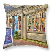 E. Shaver Bookseller Throw Pillow