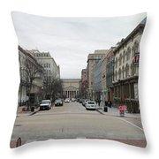 E Street Panorama Throw Pillow